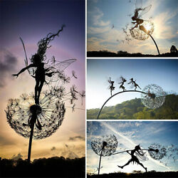 Garden Fairy Decor Stake Lawn Art Yard Metal Decoration Outdoor And Indoor Home