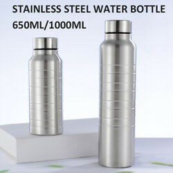 Portable Stainless Steel Single Wall Large Capacity Water Bottle Mugs Outdoor