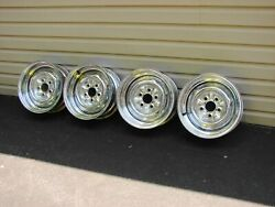 Vintage Kelsey Hayes 14x6 Chrome Reverse Wheels 5x4.5 Bc Ford Dodge Plymouth Amc