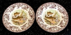 Spode England Woodland 10 5/8 Dinner Plates North American Fish Walleye New