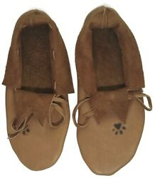 Menand039s Plains Style Moccasins Elk Upper Buffalo Sole Native American