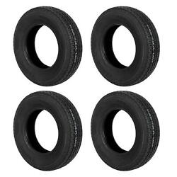 4 Of Trailer Tires St205/75r-15 8ply Wr078 Wheels Tubeless Tread Depth 6.5mm