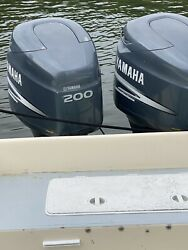 Pair Of 2000 Yamaha 200 Hp Hpdi Outboard Boat Motors Engine With Stainless Props