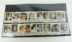 Princess Diana Commonwealth Mint Stamp Collection Job Lot 17 Commemorative