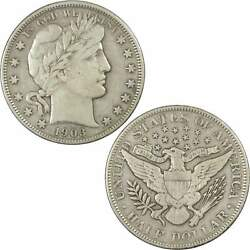 1903 Barber Half Dollar Vf Very Fine 90 Silver 50c Us Type Coin Collectible