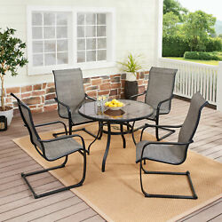 Outdoor Patio Dining 5 Piece Set Garden Table Chairs Bistro Furniture Lawn Yard
