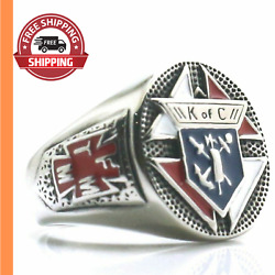 Cross Ring Knights Of Columbus Stainless Steel For Unisex Christianity Religion