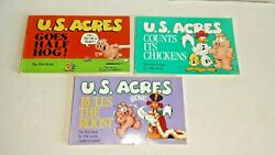 Lot Of 3 U.s. Acres Comic Books By Jim Davis Books 1, 2, And 3 New Old Stock Nice