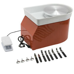 1x 280w 25cm Electric Pottery Wheel And Shaping Tool Set Ceramic Machine Work Clay