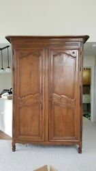 18th Century French Carved Wood Armoire In Very Good Condition