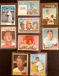 Topps Baseball Cards- Al Kaline And Bob Clemente. These Cards Are Great And Old