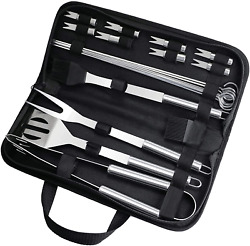 Fixget Grill Set, Grilling Accessories, 20 Piece Bbq Grill Tools Set Extra Thick