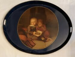 English Painted Early 19th Century Table Tray