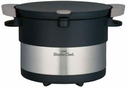 Thermos Vacuum Insulation Cooker Shuttle Chef 3.0l Stainless Black Kbc-3001 Sbk