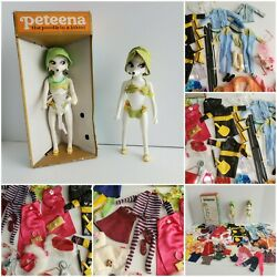 2 Peteena Poodle Dolls 11 Original Outfits Doll Lot Clothes 1966 Hasbro + Extras