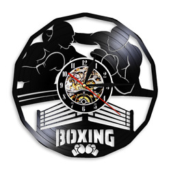 Boxing Fighting Gym Sign Boxing Martial Sports Wall Arts Decor Watch Madville Pu