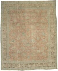 Distressed Antique Traditional Large 10x12 Muted Color Rug Handmade Decor Carpet