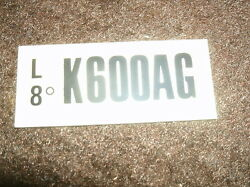 1970 Ford Mustang Or Mach 1 351c 2v Engine Code Decal
