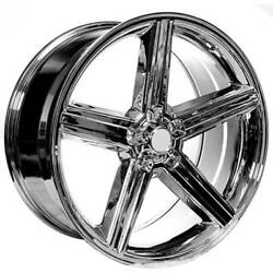 20 Iroc Wheels Chrome 5-lugs Rims And Tires Package.
