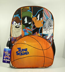 LOONEY TUNE SQUAD KIDS SCHOOL BACKPACK 17quot; BAG SPACE JAM BUGS DAFFY TAZ MARVIN $19.99