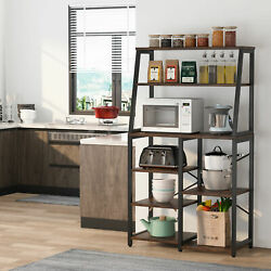 Tribesigns 8-tier Kitchen Baker's Rack Microwave Oven Stand Coffee Bar W/ Hutch