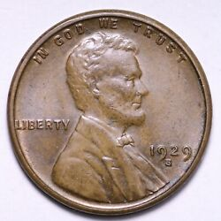 1929-s Lincoln Wheat Cent Penny Choice Bu Free Shipping E524 Wcr