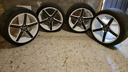 20 Inch White And Black Rims And Tires Used