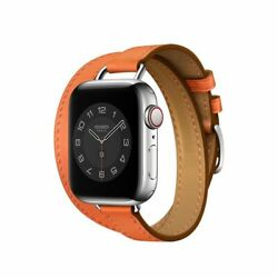Hermes Apple Watch Attelage Orange Double Tour Orange 40mm Band Only Sold Out