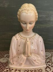 Vintage Ronzan Porcelain Madonna -- Very Finely Detailed W/ Gold Accents - Italy