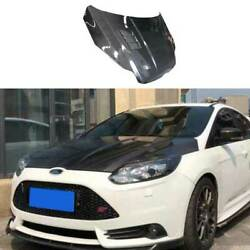 For Ford Focus St 2012-2014 Replace Carbon Fiber Engine Hood Cover Full Carbon