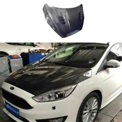 For Ford Focus St 2015-2018 Replace Carbon Fiber Engine Hood Cover Full Carbon
