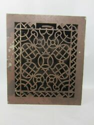 Antique Cast Iron Floor Grate With Damper Asg12