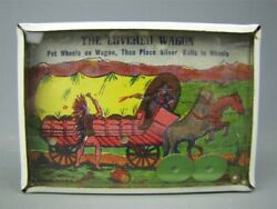Vintage The Covered Wagon Old Wild West Dexterity Game Vg Toy Cowboys Indians