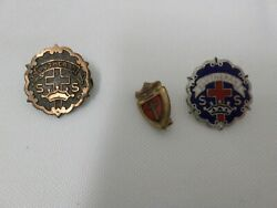 Lot Of 3 Lutheran Ss Sunday School Lapel Pins Pin Backs Buttons Religious