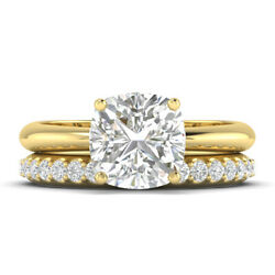 1.16ct D-si1 Diamond Tapered Engagement Ring 18k Yellow Gold Any Size
