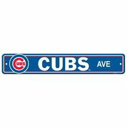Chicago Cubs 4x24 Plastic Street Sign New Mlb Wall Banner Avenue