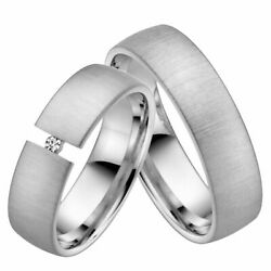 Wedding Rings Rauschmayer 06295 In 585 White Gold With Brilliant 0.03 Ct. W/ Si