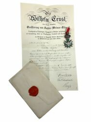 Ww1 Imperial German Saxe-weimar Order Of The White Falcon Medal With Documents