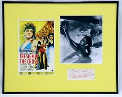 Claudette Colbert Signed Framed 16x20 Sign Of The Cross Photo Poster Set