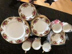 Old Country Roses Royal Albert Bone China, Complete Place Settings For 15 People