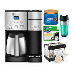 Cuisinart Coffee Center 10-cup Coffeemaker And Single-serve Brewer Silver Bundle