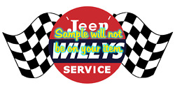 Willys Jeep Cars Dealer Sales Service Vinyl Decals Sign Stickers