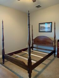 Bob Timberlake Queen-size Pencil Post Bed, Cherry Red Finish