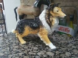 Goebel. Large W/germany Standing Collie Dog Ceramic Figurine Mint Condition.
