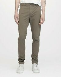 Rag And Bone Fit 1 Low-rise Chino Extra Slim Fit Dress Pant Army M1724o060arm