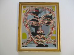 20 Tss Painting Contemporary Modernist American Abstract Portrait Pop Art Face