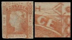New South Wales 13e Sg48b - Queen Victoria 2 Leaves At Right Pa51487 4000