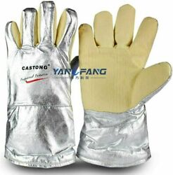 High Temperature Resistant Hand Safety Gloves Casting Melting Furnace Glove Pair