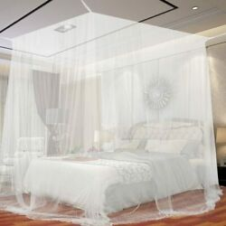 4 Corner Post Bed Canopy Mosquito Net Bedroom Mesh Curtain Full Queen King Size