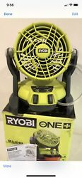Ryobi 18-volt One + Portable Bucket Top Misting Fan Tool Only